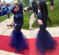 2k16 new black prom sequins mermaid prom dresses long sleeves