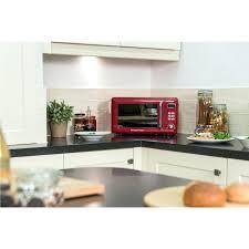 Red Retro Microwave Design Freestanding Digital In