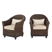 Home Decorators Collection Camden Dark Brown Wicker Outdoor Porch ... Red Barrel Studio Dierdre Outdoor Wicker Swivel Club Patio Chair Cosco Malmo 4piece Brown Resin Cversation Set With Crosley Fniture St Augustine 3 Piece Seating Hampton Bay Amusing Chairs Cushions Pcs Pe Rattan Cushion Table Garden Steel Outdoor Seat Cushions For Your Riviera 4 Piece Matt4 Jaetees Spring Haven Allweather Amazoncom Festnight Ding Of 2