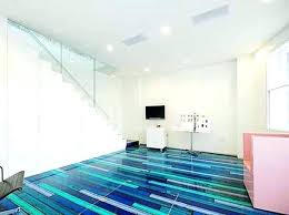 Painted Floor Ideas Inspiring Flooring Design Cool Spectrum Of Glossy Blue Color