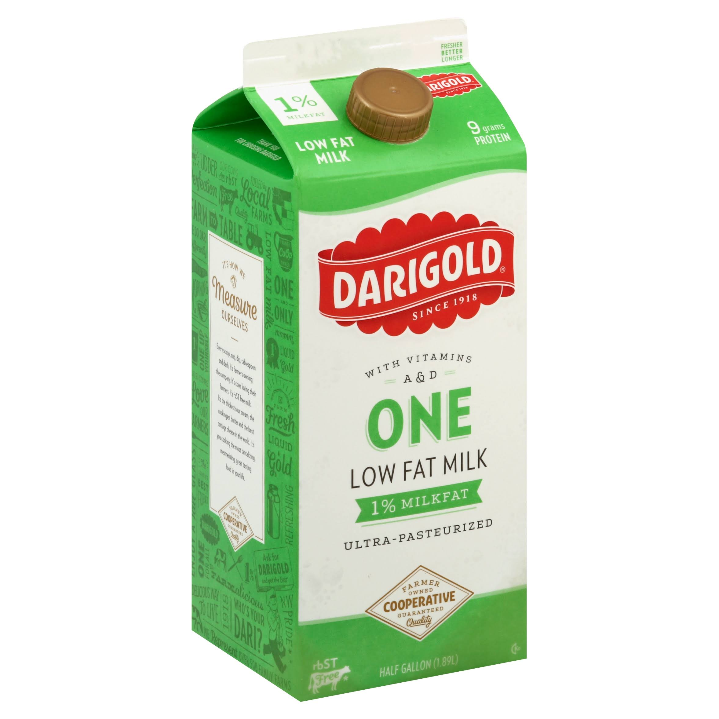 Darigold One Low Fat Milk with Vitamins A & D
