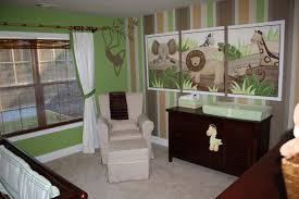 Safari Themed Nursery Animal Jungle Theme Baby Room Zoo Home Bedroom Design