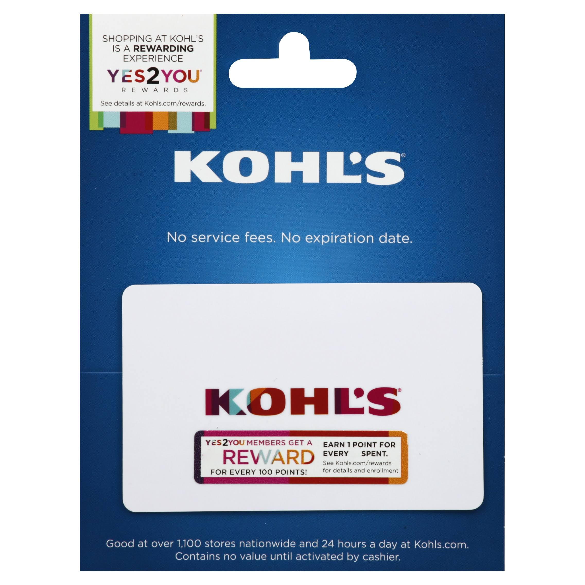 Kohls Gift Card, to
