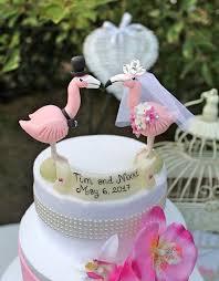 Wedding Love Bird Cake Topper Flamingo Custom Personalized Bride And Groom Animal Beach Tropical