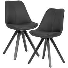 wohnling 2er set esszimmerstuhl anthrazit mit schwarzen beinen stuhl skandinavisch polsterstuhl mit stoff bezug design küchenstuhl gepolstert