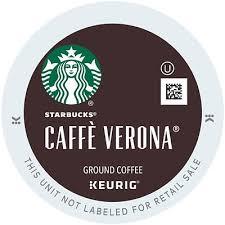 StarbucksR Caffe Verona Coffee KeurigR K CupR Pods Dark Roast