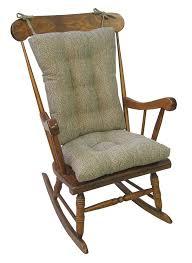 Klear Vu Tyson XL Gripper Non-Slip Extra Large Overstuffed Rocking Chair  Pad Set, 17