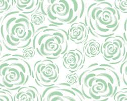 Pattern With Rose Blossoms On A White Background Simple Vintage Floral Ornament