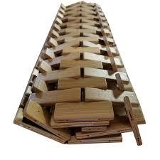 Evideco Bathroom Bamboo Slats RollUp Foldable Shower Door Rug Anti