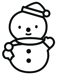Hello Kitty Snowman Coloring Page
