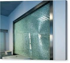 Wall Arts Broken Glass Art Tempered Canvas Print Window By