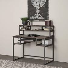 Ameriwood Desk And Hutch In Cherry by Altra Furniture Pursuit Cherry And Gray Desk 9800196 The Home Depot