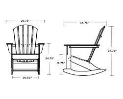 Polywood Rocking Chairs Amazon by Palm Coast Adirondack Rocker