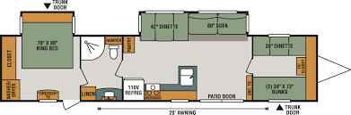 Travel Trailer Floor Plans With Bunk Beds by 2018 Kz 362bh Sportsmen 081558 U2013 Vacationland