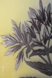 100 Flannel Flower Glass Gall Art Nouveau Overlay Acid Etched Oleander Vase