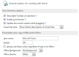 Here You Can Change Various Word Options For Example Control The Spelling And Grammar Check Settings AutoRecover Language