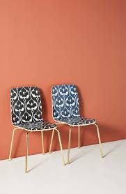 Anthropologie Ikat Tamsin Dining Chair | From Headboards To ... Lily Navy Floral Ikat Accent Chair Navy And Crimson Ikat Ding Chair Cover Velvet Ding Chairs Tufted Blue Meridian Fniture C Angela Deluxe Indigo Pier 1 Imports Homepop Parson Multicolor Set Of 2 A Quick Living Room And Refresh Stripes Whimsy Loralie Upholstered Armchair With Walnut Finish Polyester Stunning And Brown Ideas Ridge Table Eclectic Decatorist Espresso Wood Ode To The Skirted Katie Considers
