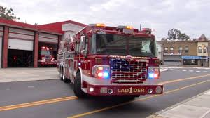 Passaic NJ Fire Department Ladder 1 And Engine 1 Responding (2 ...