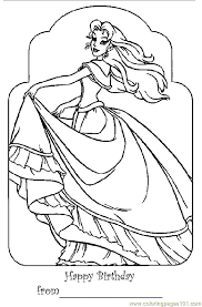 Barbie Princess Bar Coloring Page
