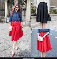 Plus Size Vintage Style Skirt New Fashion 2015