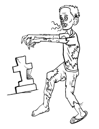 Printable Zombie Coloring Sheet