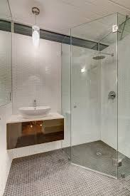 los angeles neo angle shower bathroom midcentury with ceiling