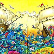 Imagimorphia Animorphia Prismacolor Ship Fish Kerbyrosanes Colorindolivrostop Coloring
