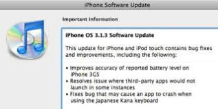 iPhone Firmware Update 3 1 3 Out Now Fixes Minor Bugs