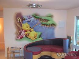 Kids Room Wall Painting Ideas For Winnie The Pooh Fishing Sticker On