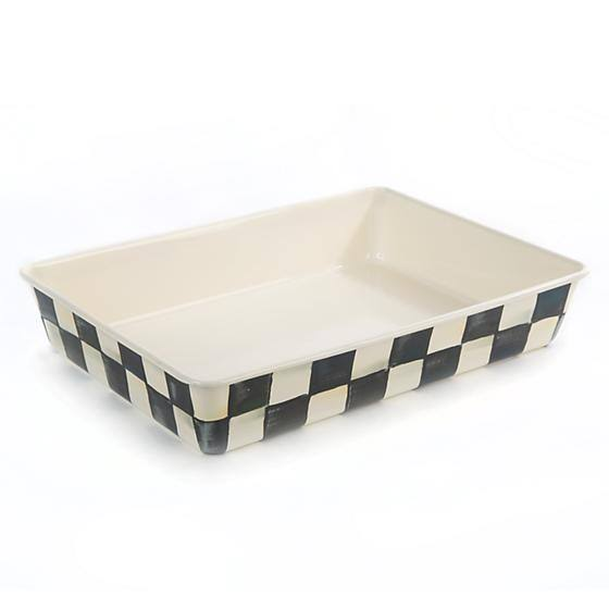 "MacKenzie-Childs Courtly Check 9"" x 13"" Enamel Baking Pan"