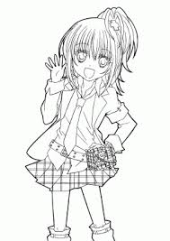 Hotaru From Shugo Chara Anime Coloring Pages For Kids Printable Free