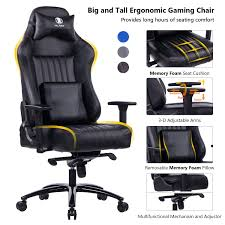 Amazon.com: KILLABEE Big And Tall 400lb Memory Foam Gaming Chair ... Highback Big And Tall Office Chair 400lbs Ergonomic Pu Leather Balans 3d Office Chair Ergo Balance Kos Ireland 15 Best Chairs And Homeoffice 2019 Fabric Desk Fabrics Posture Mandaue Foam Philippines Guide How To Buy A Top 10 The For Digital Trends 12 To Include In Your Keribrownhomes Neutral Seating Accsories