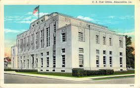 U S Post fice Alexandria LA Art Deco Postcards
