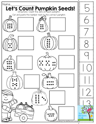 Life Cycle Of A Pumpkin Seed Worksheet by Count Cut And Paste Tons Of Fun Printables October