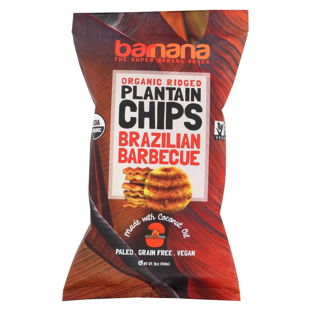 Barnana Organic Ridged Plantain Chips Brazilian Barbecue 5 oz.