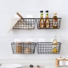 küche gewürz hängenden korb ablagekorb desktop badezimmer rechteckigen aufbewahrungsbox wandhalterung regal