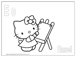 Letter D Coloring Sheet Is For Dog Hello Kitty Printable