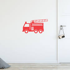 100 Fire Truck Wall Decals Sticker Petite Penguin Nursery Childrens