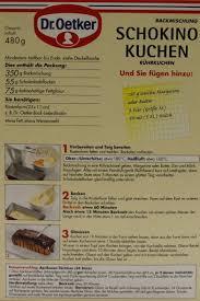 dr oetker schokino kuchen bachmischung 480g