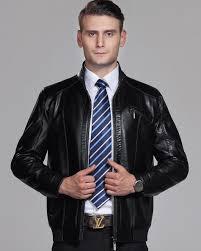 online get cheap brown leather jacket men style aliexpress com