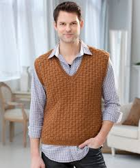 36 knit crochet patterns men red heart
