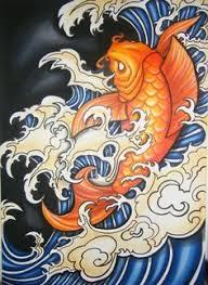 Koi In Waterfall Art Print By Sebastian Orth Japanese Style Tattoo