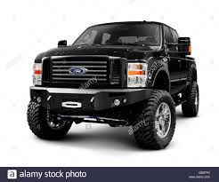 100 Gmc Super Truck Black 2008 Customized Ford Duty F250 Pickup Truck Stock Photo