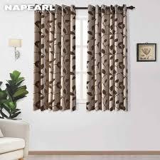 napearl 1 stück kurze blätter design vorhänge schlafzimmer