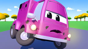 Suzy The LITTLE PINK CAR Drove Into Gary The GARBAGE TRUCK And Is ...