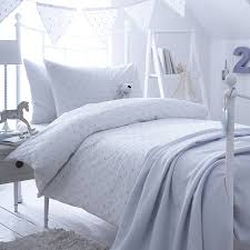 dotty blue spot cotton bedding collection by the fine cotton