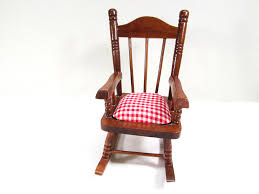 Doll Rocking Chair Vintage Wooden Rocker Red White Checked Fabric ... Sold Antique Mission Style Rocking Chair Refinished Maple And Leather Adams Northwest Estate Sales Auctions Lot 12 Vintage Wood Mini Rocker 3 Vintage Wood Carved Rocking Chairs Incl 1 Duck Design Seat Tell City Company Love Seat Projects In Childs Wooden Refurbished Autentico Bright White Victorian W Upholstered Back Wooden Chair Ldon For 4000 Sale Shpock With Patchwork Design On Backrest Batley West Yorkshire Gumtree Child Doll Red Checked Fabric