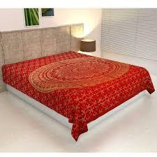 bettüberwurf casa moro überwurf mandala amba 140x220 psychedelische wanddecke dekorativer hippie wand teppich boho stil orientalische dekoration