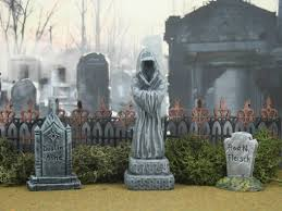 Lemax Halloween Village Displays by Monument 5 Miniature Halloween Village Graveyard Cemetery For