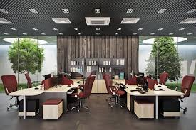 Office Interior Design In Natural Materials